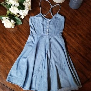 SO Heritage | Blue Denim Jean Dress Button Sundres